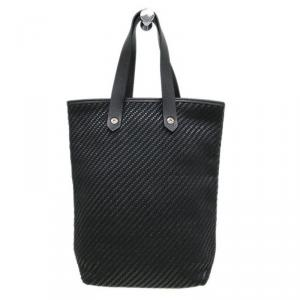 Hermes Black Woven Leather/Polyester Ahmedabad PM Bag