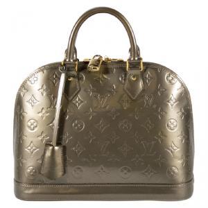 Louis Vuitton Vert Bronze Monogram Vernis Alma PM
