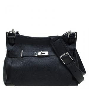Hermes Black Taurillon Clemence Leather Jypsiere 34 Bag