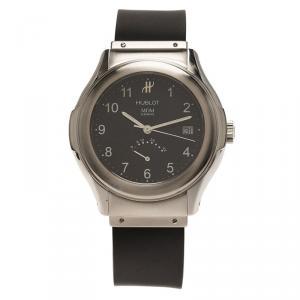 ساعة يد نسائية هوبلو MDM ستانلس ستيل حافظة للطاقة ستانلس ستيل سوداء 38مم