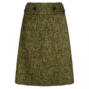 Hugo By Hugo Boss Yellow Textured Knit Regilla Skirt M