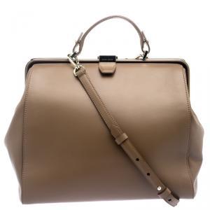 Hugo Boss Brown Leather Romy Top Handle Bag