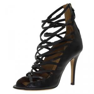 Isabel Marant Black Leather Paw Strappy Sandals Size 37