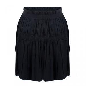 Isabel Marant Black Gathered Skirt S