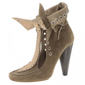 Isabel Marant Beige Suede Milla Eyelet Ankle Boots Size 39