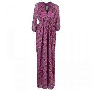 Issa Pink Printed Kaftan Dress S