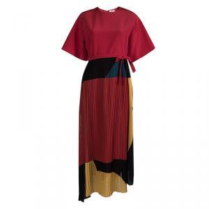 Issa Muticolor Colorblock Wrap Gabriella Maxi Dress M