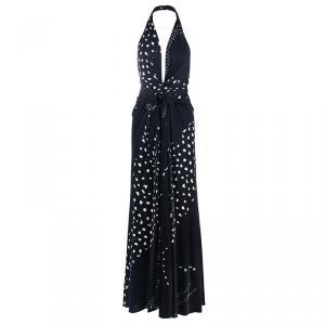 Issa London Monochrome Halterneck Maxi Dress M