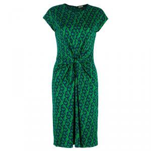 Issa Green Circle Print Silk Dress S