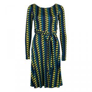 Issa London Multicolor Long sleeve Tie-Front Dress S