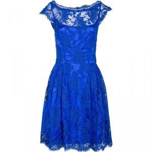 Issa London Blue Lace Dress S