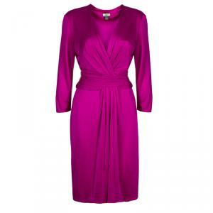 Issa London Pink Draped Dress M