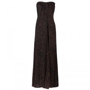 Issa London Brown Long Printed Maxi Dress S