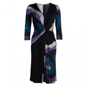 Issa Multicolor Knit Long Sleeve Dress M
