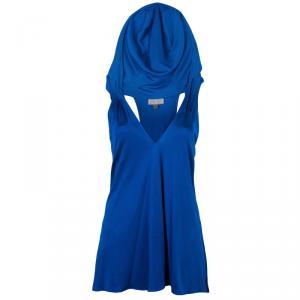 Issa Cobalt Hooded Sleeveless Top M