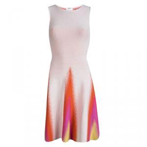 Issa Multicolor Pattern Knit Sleeveless Flared Dress XS
