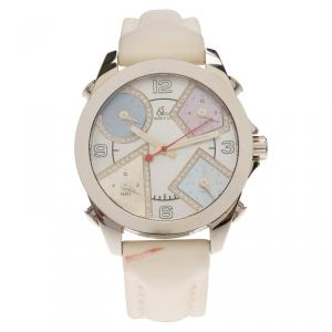 Jacob and Co. Mother of Pearl Stainless Steel Five Time Zone Women's Wristwatch 40MM