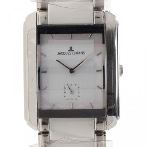 Jacques Lemans White Ceramic and Stainless Steel 1-1330 Women's Wristwatch 30MM