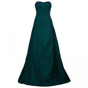 فستان جيسون وو FW14 بلا حمالات جاكار أخضر M