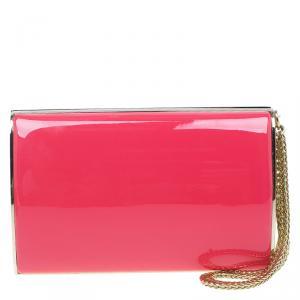 Jimmy Choo Pink Patent Leather Carmen Clutch