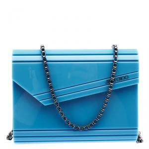 Jimmy Choo Blue Acrylic Candy Clutch Bag