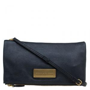 Marc by Marc Jacobs Black Leather Too Hot To Party Foldover Clutch