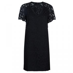 Joseph Black Jinny Embroidered Dress S