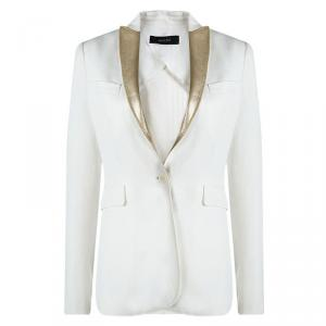Joseph Off White Placket Detailed Notched Collar Blazer S