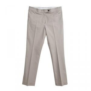 Joseph Beige Cotton Skinny Trousers S