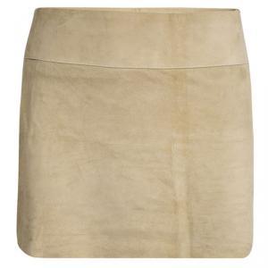Joseph Beige Goat Skin Suede Mini Skirt XS