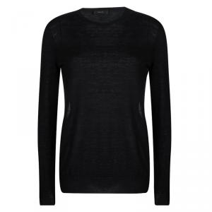 Joseph Black Cashmere Crew Neck Sweater S