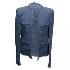 Joseph Blue Pocket Detail Denim Jacket L