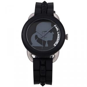 Karl Lagerfeld Black Stainless Steel KL2213 Unisex Wristwatch 40MM