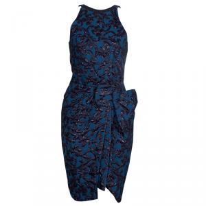 Lanvin Blue Brocade Dress M
