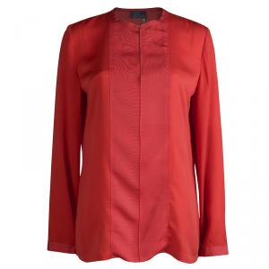Lanvin Red Long Sleeve Blouse M