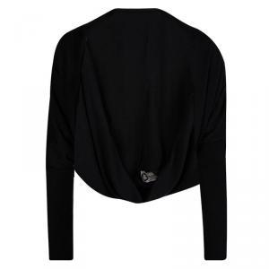 Lanvin Black Cashmere Long Sleeve Shrug M