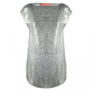 Lanvin Metallic Lurex Silk Sleeveless Sheer Top M