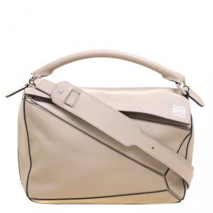 Loewe Beige Leather Puzzle Shoulder Bag