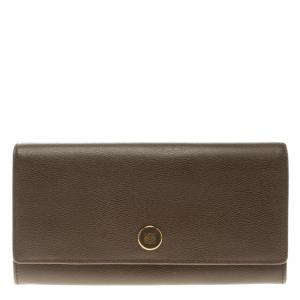 Loewe Carob Brown Leather Continental Wallet