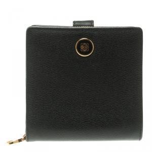 Loewe Black Leather Compact Wallet