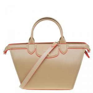 Longchamp Beige Leather Le Pliage Heritage Tote