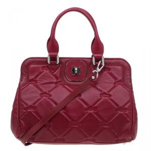 Longchamp Red Quilted Leather Gatsby Shoulder Bag