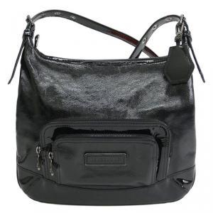 Longchamp Black Patent Leather Legende Verni Crossbody Bag