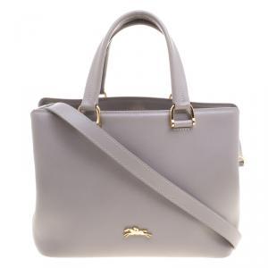 Longchamp Grey Leather Honore Tote