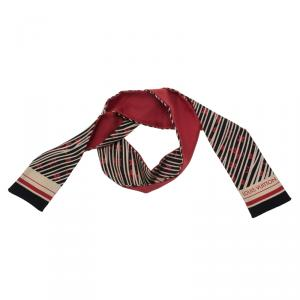 Louis Vuitton Black, White and Red Almazing Silk Bandeau