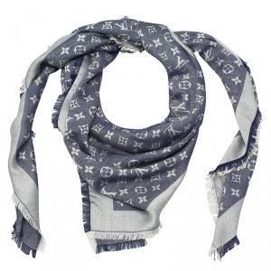 Louis Vuitton Blue Monogram Denim Shawl