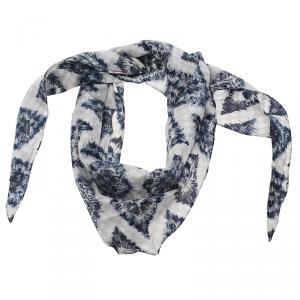 Louis Vuitton Blue Ikat Silk Scarf