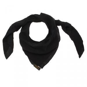 Louis Vuitton Black Monaco Silk Square Scarf