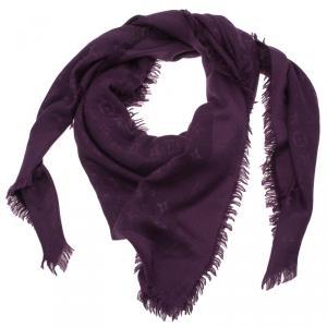 Louis Vuitton Purple Monogram Denim Shawl