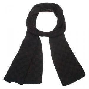 Louis Vuitton Damier Ebene Wool Scarf
